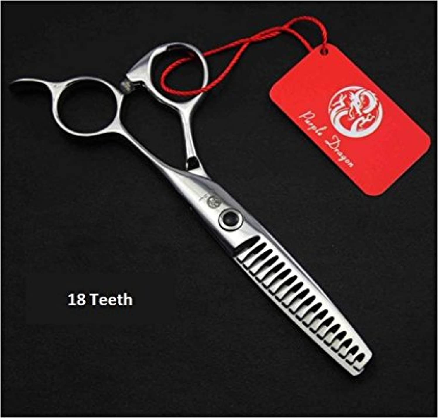5.57 Inches 8,14,18 Teeth Professional Hairdressing Scissors,Pet Grooming Dog Hair Thinning Scissors with Bag (18 Teeth)