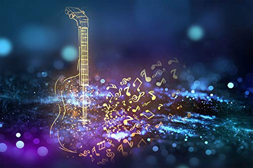 FHZON 9x6ft Music Backdrop The Guitar Photography Background Theme Party Wallpaper Photo Booth Props BJYYFH110