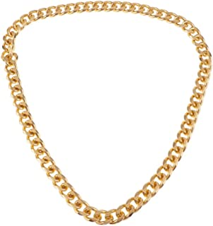 Prettyia Metal Curb Cuban Chain for Rapper, Hip Hop Thick Heavy Miami Link Chain Necklace for Men Women - 36.6inch / 93cm