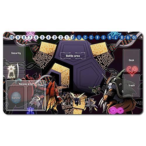 459568de - Digimon Spielematten , Digimon playmat Brettspiel Digimon Mouse pad MTG Playmat Tischmatte Spiele Größe 60X35 cm Mousepad Spielmatte für TCG CCG Yugioh Digimon Magic The Gathering