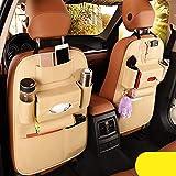 Best Kick Mats - 2 Pack PU Leather Premium Car SeatBack Organizer Review
