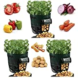 YOQXHY 3 Pack Potato Grow Bags [10 Gallon] Garden Vegetables Planter...