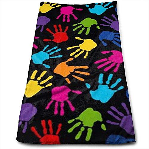 Bert-Collins Towel Couleur Impression à la Main Personnalité Amusant Motif Serviettes de Toilette Fibre Superfine Super Absorbant Serviettes Douces pour Le Gym
