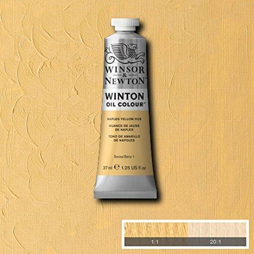 Winsor & Newton Winton Ölfarbe Tube Künstler Art 37ml & 200ml alle Farben, Naples Yellow Hue, 37 ml