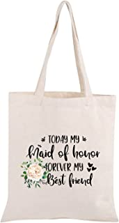 Maid of Honor Proposal Gift Today My Maid Of Honor Forever My Best Friend Tote Bag Bridesmaid Gift
