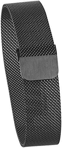 newgen medicals Magnet Uhrenarmband: Milanaise-Armband für Uhren mit 20-mm-Steg, Magnet-Verschluss, schwarz (Uhrenarmband mit Magnetverschluss)