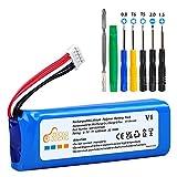 Pickle Power JBL Charge 2 Plus - Batería recargable para altavoz JBL Charge 2+, 6200 mAh, batería de polímero de litio compatible con GSP1029102R, con juego de herramientas