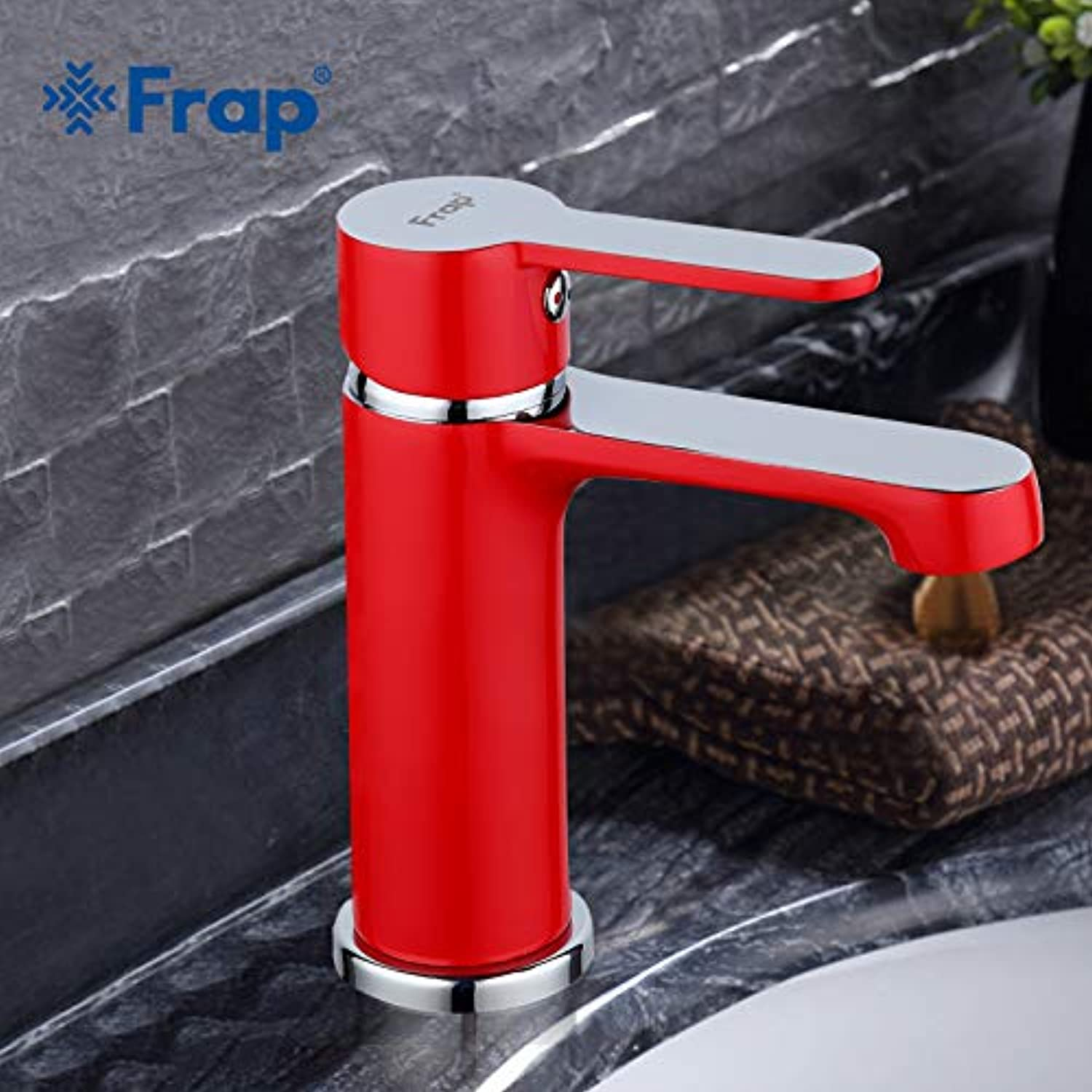 U-Enjoy Chandelier Fashion Style Innovative Home Basin Top Quality Faucet Bath Cold and Hot Taps Red Bathroom Water Mixer F1043 Free Shipping