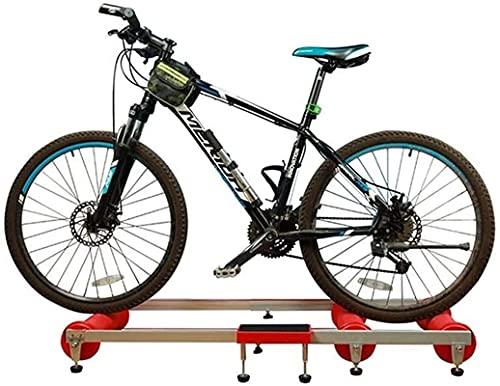 Equipo Gimnasio en casa [Promoción 2021] Soporte para entrenador de bicicletas Soporte de entrenamiento para ejercicios de bicicletas para interiores Plataforma para montar con rodillos para bicicleta