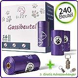 GIZZY Hundekotbeutel Kotbeutel für Hunde Hundebeutel biologisch abbaubar Kotbeutel Kotbeutel für Hunde biologisch abbaubar