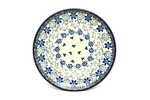 Polish Pottery Plate - Bread & Butter (6 1/4') - Silver Lace