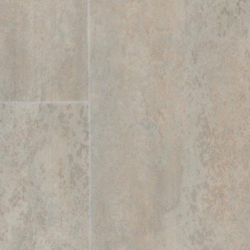 BODENMEISTER BM70518 Vinylboden PVC Bodenbelag Meterware 200, 300, 400 cm breit, Fliesenoptik creme weiß grau