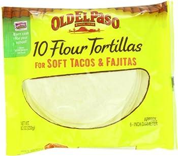 Old El Paso Flour Tortillas Soft Tacos and Fajitas 8.2 oz 10 ct  Pack of 12