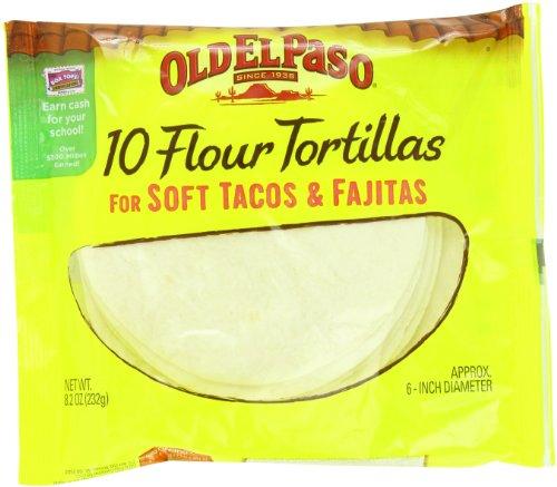 Old El Paso Flour Tortillas Soft Tacos and Fajitas, 10 ct (Pack of 12)