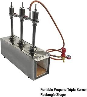 Portable Propane Triple Burner Knife and Tool Making Farrier Forge, Rectangle Shape