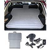 Sinbide SUV Materasso Gonfiabile da Auto con Pompa + 2 Cuscini Viaggio per Viaggi, Campeggio, ECC (Grigio)