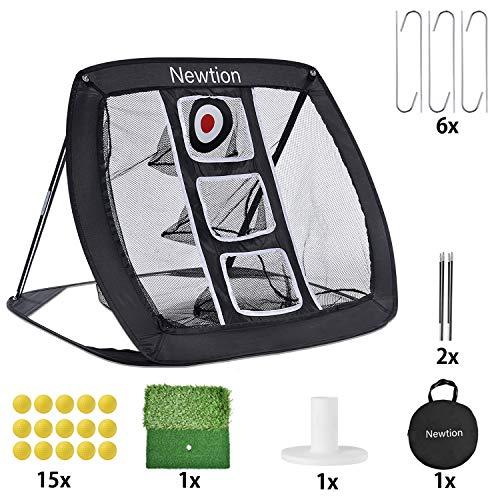 WINOMO 18PCS Praxis Golfbälle weiches dimpled elastisches im Freien im Freientraining weiche Schaum Golfbälle (Gelb)