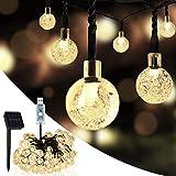 SUMKUMY Cadena Solar de Luces, 100 LED 10M Guirnalda Solar Luces Decorativas, IP65 Impermeable, USB, 8 Modos, Luces Solar Exterior Interior para Jardín, Árbol, Patio, Boda, Fiesta, Navidad