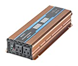 GISIAN 1100W Power Inverter DC 12V to 110V AC Converter with Digital LED Display, 2 AC Outlets and USB Port for RV Truck Boat Solar System
