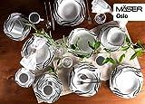 Mäser 920463 Serie Oslo, 30-teiliges Kombiservice für 6 Personen, Geschirr-Set, klassisch, zeitlos, elegant, Porzellan, schwarz-weiß - 2