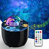 Galaxy Projector Night Light, Delicacy Sky Ocean Wave Starry Projector, Night Light with Remote Control, Nebula Galaxy Light Projector for Bedroom Decor Ceiling, Skylight Projector for Party and Date