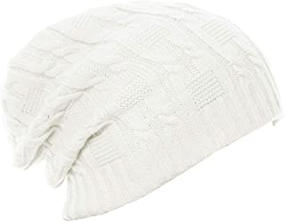 Lovful Unisex Slouchy Cable Knit Beanie Cap Oversized Thick Winter Beanie Hat
