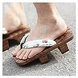 Pantofole Di Sandali Tradizionali Kimono Giapponesi Per Donne E Uomini Aperti Aperti Flip Flops All'aperto, Pantofole Piattaforma Scarpe In Legno Pantofole Da Coppia ( Color : D , Size : EUR 42-43 )