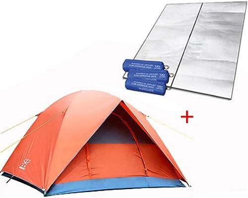 JFFFFWI Tentes Anti-Pluie de Nombreuses Personnes à Double Couche 3-4 Personnes Tente de Camping en Plein air