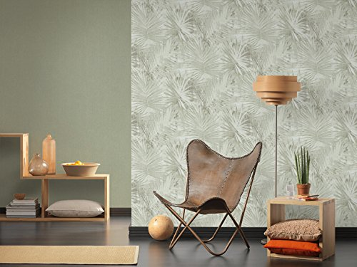 A.S. Création Livingwalls Vliestapete Hygge Tapete Uni 10,05 m x 0,53 m grün Made in Germany 363787 36378-7