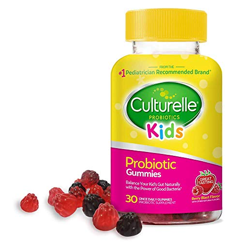 Culturelle Kids Daily Probiotic Gummies - Prebiotic + Probiotic - from The #1 Pediatrician Recommended Brand - Helps Maintain a Healthy Tummy - Gluten-Free, Berry Flavor - 30 CT