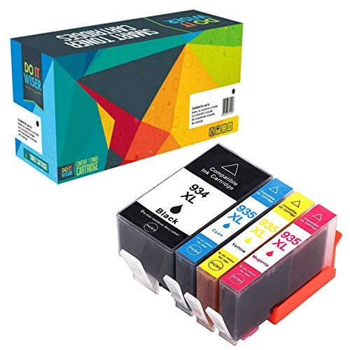 Do it wiser kompatible Tintenpatronen als Ersatz für HP 934 XL 935 XL für HP OfficeJet Pro 6830 6230 6815 6810 6812 6220 6835 6820 (4er-Pack)