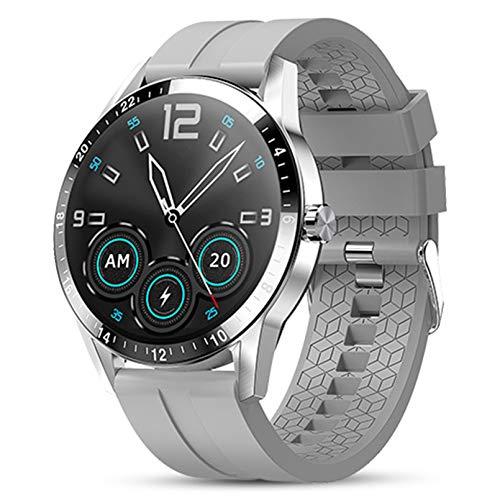 WEINANA Reloj inteligente para hombre, estilo empresarial, compatible con llamadas Bluetooth, monitor de ritmo cardíaco, reloj inteligente táctil completo para Android IOS (color: D)