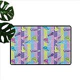 Anzhutwelve - Alfombrillas para decoración del hogar, diseño Retro con Rayas Verticales, para jóvenes, de 45,7 x 152,4 cm, Alfombra para baño, Cocina, habitación
