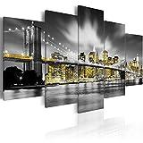 murando Cuadro en Lienzo 200x100 cm Impresión de 5 Piezas Material Tejido no Tejido Impresión Artística Imagen Gráfica Decoracion de Pared New York Ciudad Nueva York NY 030102-24