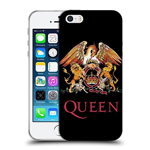 Head Case Designs Ufficiale Queen Stemma Arte Chiave Cover in Morbido Gel Compatibile con Apple iPhone 5 / iPhone 5s / iPhone SE 2016