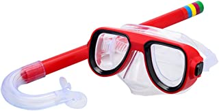 SKL Kids Snorkel Set Children Recreation Mask Snorkel Set Kids Silicone Scuba Diving Snorkeling Glasses Set for Boys and Girls Age 5 Plus
