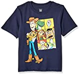 Pixar Little Boys Toy Story 4 Woody and Co. T-Shirt, Navy