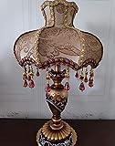 De estilo europeo, lámpara de mesa, 13 pulgadas de cabecera la tela la lámpara hecha a mano de estilo victoriano princesa de la lámpara de resina Cuerpo lámpara de escritorio Uso E27 / E26 Bombilla