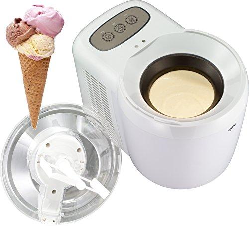 Exido 12310026 Speiseeisbereiter Eismaschine Eisbereiter bis -17 Grad Celsius, bereit für den sofortigen Einsatz dank thermoelektrischer Kühlung,90 Watt,