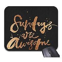 インスピレーションを与えるサンデーマウスパッドトレンディなオフィスデスクトップアクセサリー