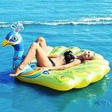 FBEST Flotador Inflable Gigante de Pavo Real, Divertidos flotadores en la Playa, Juguetes para Nadar en la Fiesta, Isla de la Piscina, Sala de Balsas de Verano para Adultos y niños