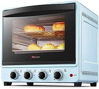 GJJSZ Horno de Flujo de mostrador, Horno de cocción,función de Tostado/fermentación,Puerta con Doble Aislamiento,Pastel de Gasa de 6 Pulgadas/Pizza de 10 Pulgadas,Capacidad de 30 l,Azul