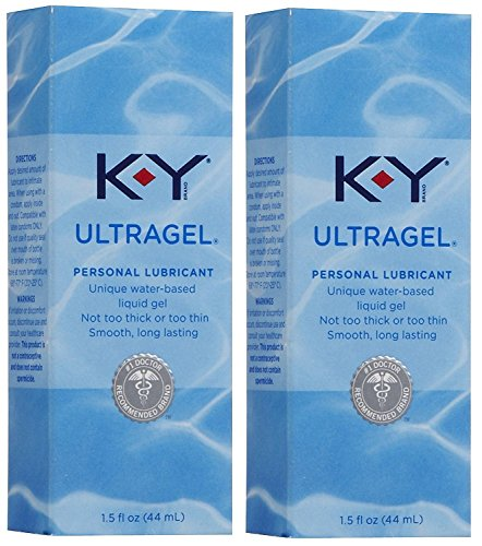 K-Y KY Ultragel Personal Lube Lubricant 1.5 oz (44 ml) Lot of 2