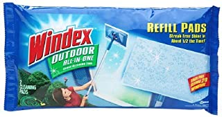 Windex Outdoor All-In-One Glass Cleaning Tool - Pads Refill 2 ea (Pack of 4)