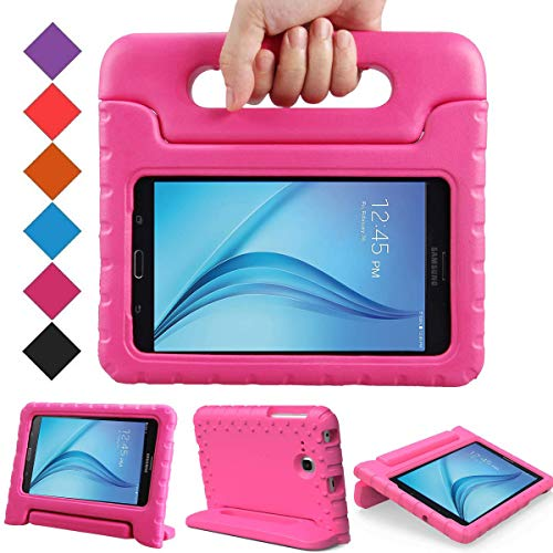 BMOUO Kids Case for Samsung Galaxy Tab E Lite 7.0 Inch - ShockProof Case Light Weight Kids Case Super Protection Cover Handle Stand Case for Children for Samsung Galaxy Tab E Lite 7 Inch Tablet - Rose