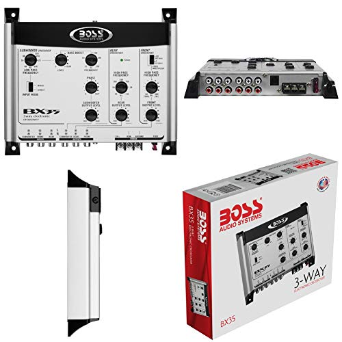 1 BOSS AUDIO SYSTEMS BX35 BX 35 crossover elettronico a 3 vie equalizzatore 3 uscite...