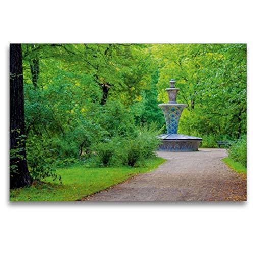 Premium Textil-Leinwand 120 x 80 cm Quer-Format Mosaikbrunnen | Wandbild, HD-Bild auf Keilrahmen, Fertigbild auf hochwertigem Vlies, Leinwanddruck von LianeM