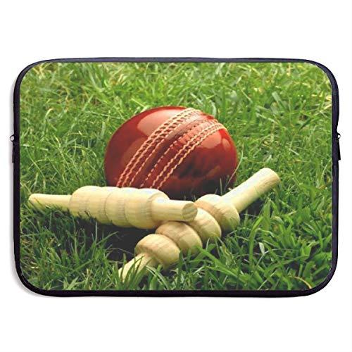 Funda Impermeable para portátil de 15 Pulgadas, maletín de Negocios con Papel Tapiz de Cricket-Bat-maletín de Negocios, Funda Protectora para Ordenador, BAG-1206