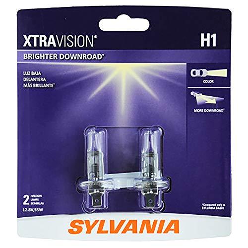 SYLVANIA H1 XtraVision Halogen Headlight Bulb, (Contains 2 Bulbs)