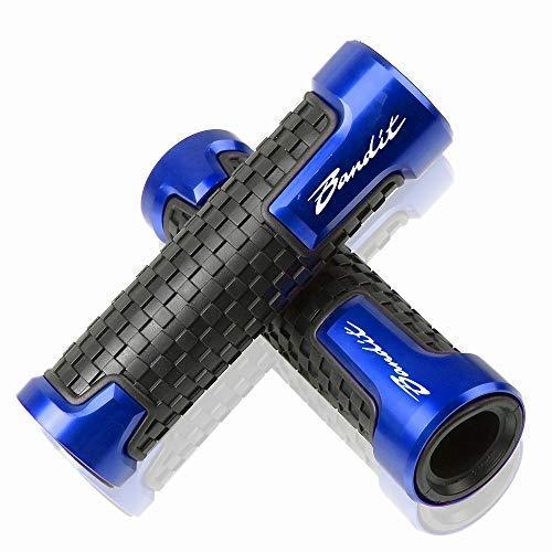 22mm 7/8''Puño de Manillar para Suzuki GSF 250 600 600S 650 650S 650N 1200 1250 Bandit 650S-Azul